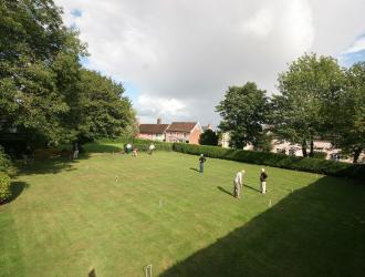 Croquet on the Fox and Goose Green