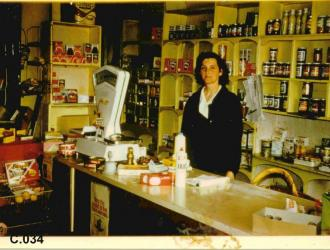 1966 Averil was the third generation of her family to run this shop in Golden Square Beldersons