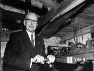 Verger William Lewis Etheridge. He wound the Church clock from 1922 until1968.