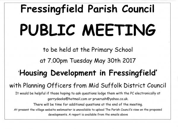 Housing development public meeting