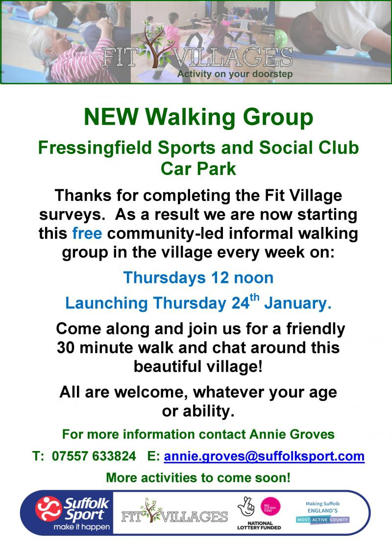 New Walking Group - 24th Jan